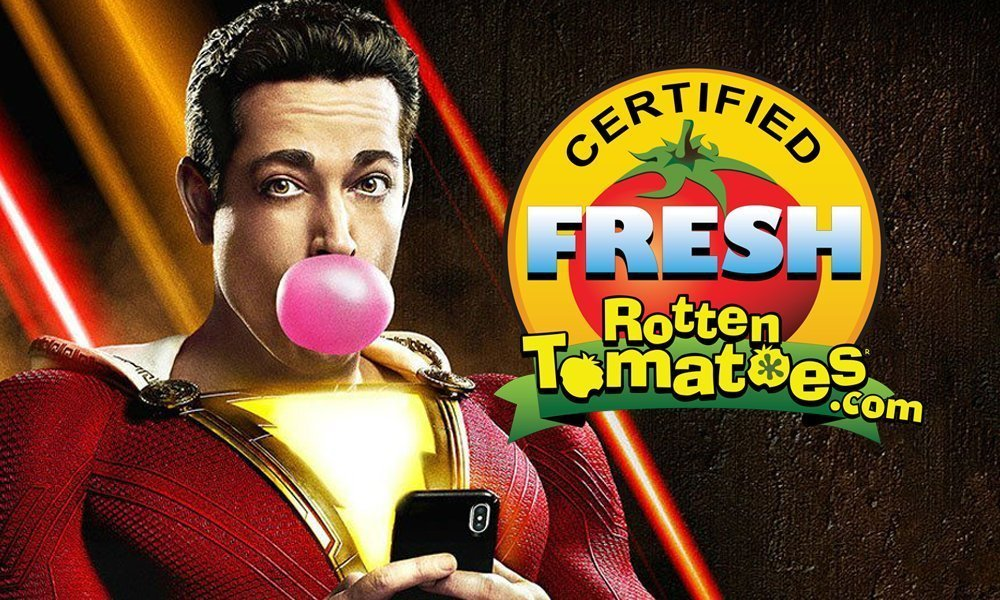 Shazam! Officially Certified Fresh on Rotten Tomatoes