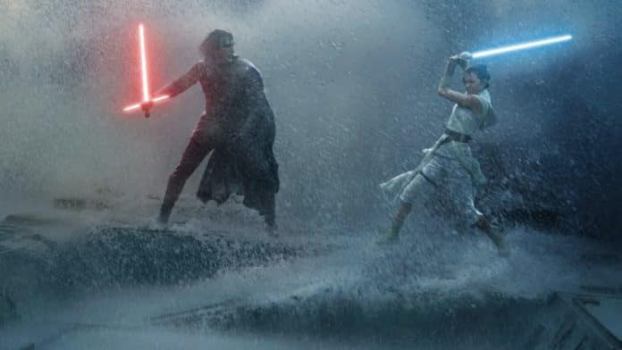 Star Wars The Rise of Skywalker Adam Driver and Daisy Ridley