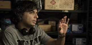 M. Night Shyamalan on Glass set