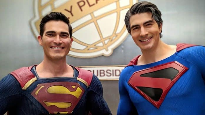 Brandon Routh Tyler Hoechlin Superman