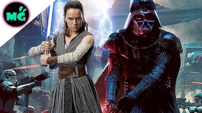 Star Wars 9 Rey and Darth Vader