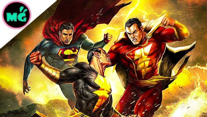 Black Adam Shazam and Superman