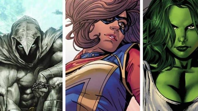 Moon Knight Ms. Marvel and She-Hulk