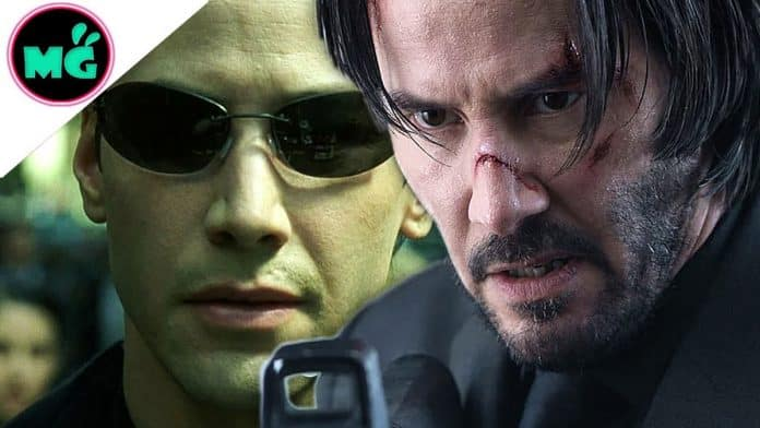 Keanu Reeves in The Matrix 4 and John Wick 4