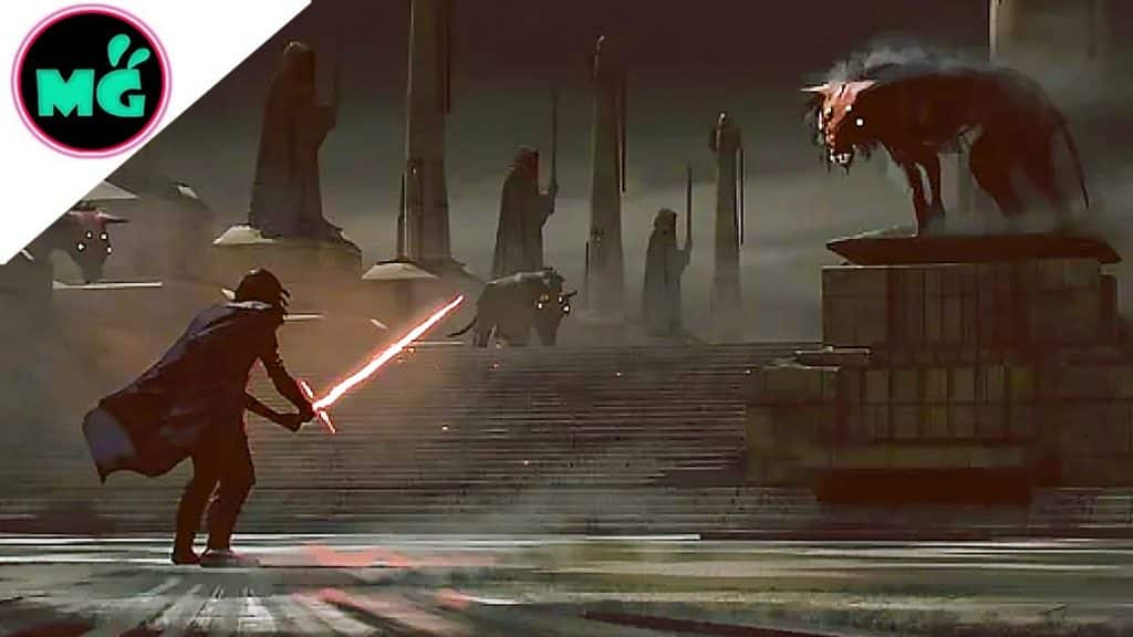 Star Wars 9 Kylo Ren Stares Down Space Wolves In Unused Concept Art