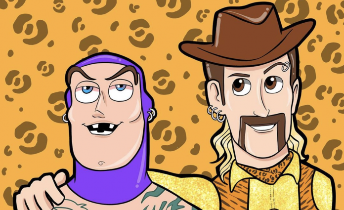 Joe Exotic as Toy Story's Woody
