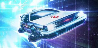 Ready Plater Two Ghostbusters Delorean
