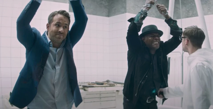 Ryan Reynolds and Samuel L. Jackson in The Hitmans Wifes Bodyguard