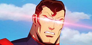 Superman in Injustice animated movie.